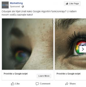 Facebook carusel