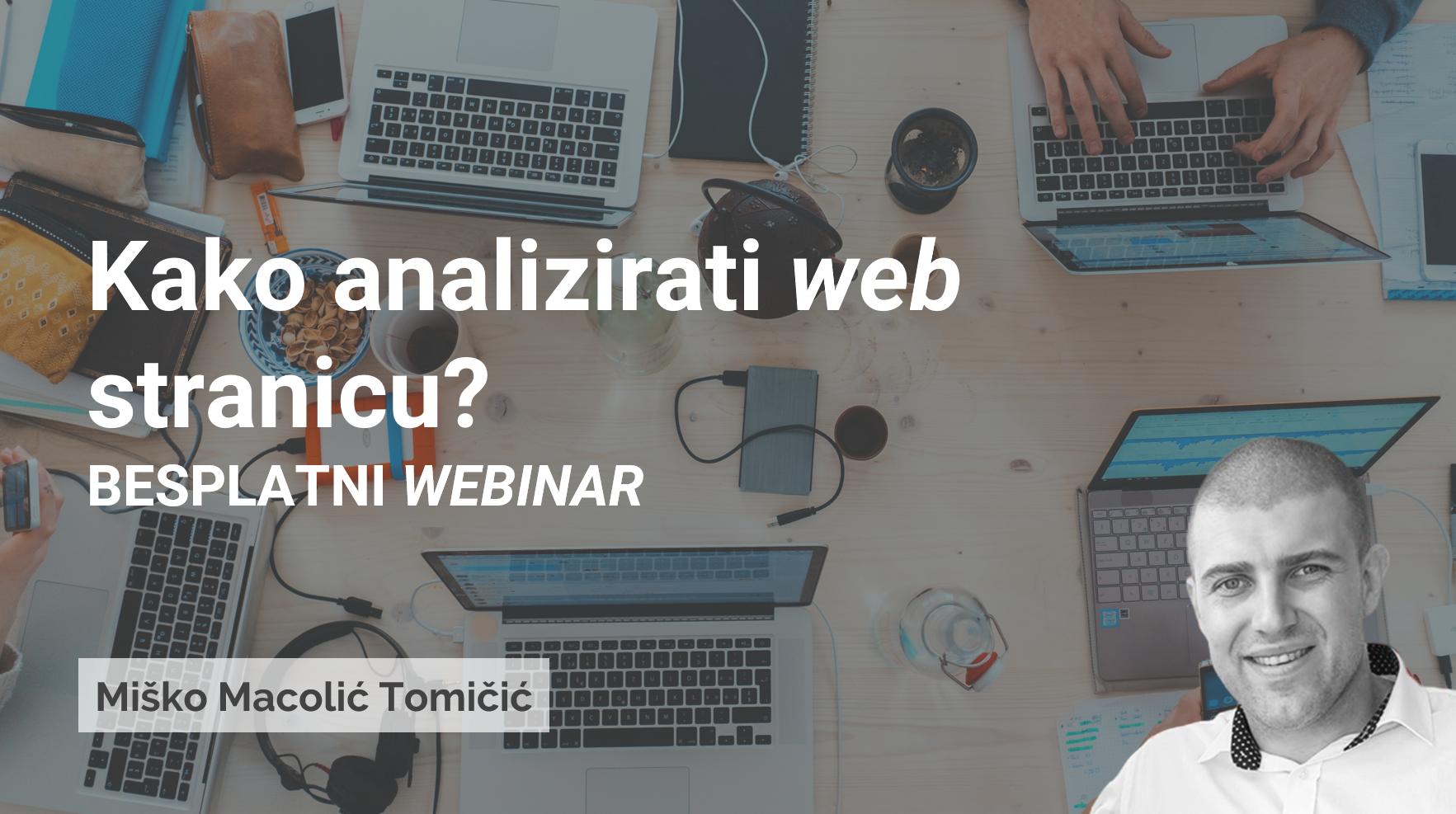 WEBINAR: Kako analizirati web stranicu?